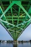 Jetez un pont sur relier deux pays, Slovaquie et Hongrie photographie stock libre de droits
