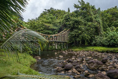 Jetez un pont sur sur l'île de Cocos Images libres de droits