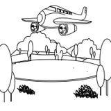 Jetfärgläggningsida vektor illustrationer