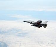 Jetfighter at altitude Stock Photo