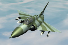 Jetfighter. A jetfighter armed with rockets in use Stock Images