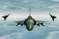 Jetfighter. A jetfighter armed with rockets in use Stock Photography