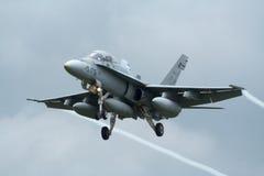 Jetfighter espagnol du frelon F-18 Images libres de droits