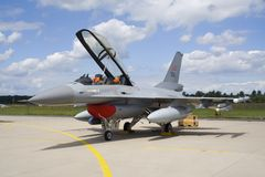 Jetfighter F-16 Immagini Stock