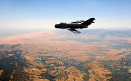 Jetfighter at high altitude Stock Images