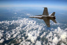 Jetfighter at high altitude Royalty Free Stock Photos