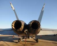 Jetfighter hintere Ansicht Stockfotos