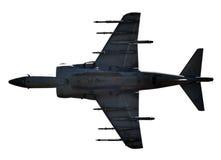 Jetfighter op wit wordt geïsoleerd dat Royalty-vrije Stock Foto's