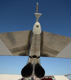 Jetfighter rear view Royalty Free Stock Images