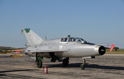 Jetfighter sovietico Fotografia Stock