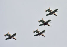 jetfighters的形成 免版税库存图片