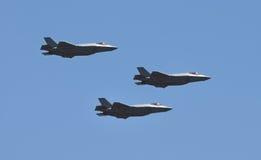 在飞行中Jetfighters 免版税图库摄影