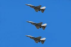 Jetfighters passing overhead Stock Image