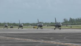 Jetfighters returning from mission stock video