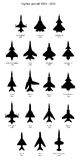 Silhouettes Jetfighters Royalty Free Stock Image