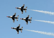 Jetfighters in vorming Stock Foto's