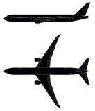 Jetflygplan Arkivfoto