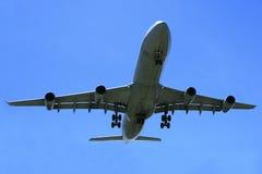 jetflygplan för flygbuss a340 Arkivfoto