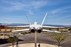 JetHawks, Lancaster, Kalifornia, usa - Kwiecień 5, 2017: JetHawks, Lancaster, Kalifornia, usa NASA F18 samolot na fotografia royalty free