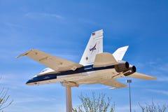JetHawks Lancaster, Kalifornien, USA - April 5, 2017: JetHawks Lancaster, Kalifornien, USA Flygplanet för NASA F18 på Arkivbilder