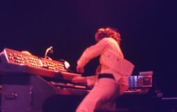 1974. Jethro塔尔05。丹麦,哥本哈根。 库存图片