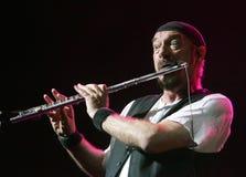 Jethro Tull Wykonuje w koncercie fotografia royalty free