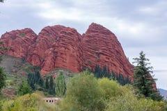 Jeti-Oguz Seven Bulls Rocks. Issyk Kul, Kyrgyzstan Royalty Free Stock Photography