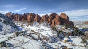Jeti-Oguz siete montañas de los toros Imagen de archivo libre de regalías