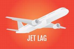 Jetlag机智作为背景的飞机aroplance 免版税图库摄影