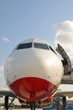 jetliner μετακιμένος με ταξί στοκ φωτογραφίες
