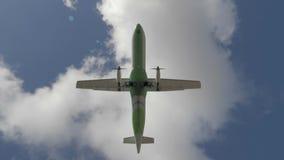 Jetliner flying overhead