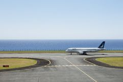 Jetliner ready for takeoff Royalty Free Stock Images