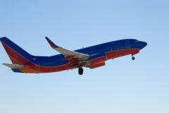 Jetliner on takeoff 2 Stock Images