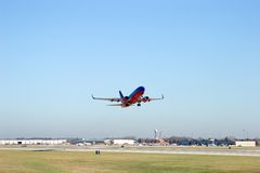 Jetliner on takeoff 5 Stock Photos