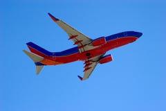 Jetliner on takeoff 6 Stock Images