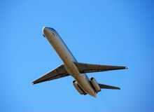 Jetliner taking off Stock Photo
