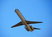 Jetliner taking off Stock Photo