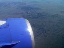 Jetmotor över kontinental skiljelinje Royaltyfri Fotografi
