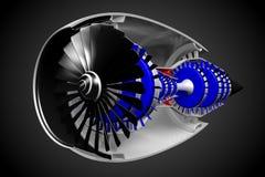 jetmotor 3D Arkivfoton