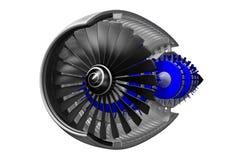 jetmotor 3D Royaltyfria Bilder