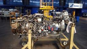 Jetmotor för ATR 72 Royaltyfri Fotografi