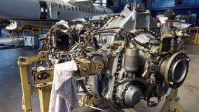 Jetmotor för ATR 72 Arkivfoton