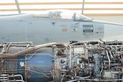 Jetmotor och flygplan Royaltyfria Bilder