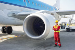 Jetmotormekaniker Royaltyfria Foton