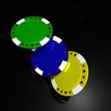 Jetons de poker Images libres de droits