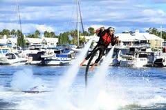 Jetpack demonstration by Brendan Radke. Royalty Free Stock Image