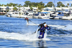 Jetpack demonstration. Sanctuary Cove International Boat show 2013, Queensland, Australia Stock Photography