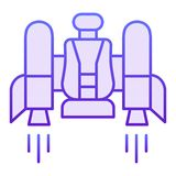 Jetpack flat icon. Jetpack with a chair violet icons in trendy flat style. Future technology gradient style design. Designed for web and app. Eps 10 royalty free illustration