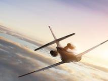 Jetplane di volo fotografie stock libere da diritti