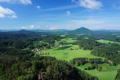 Jetrichovice in Czech Switzerland Royalty Free Stock Photography